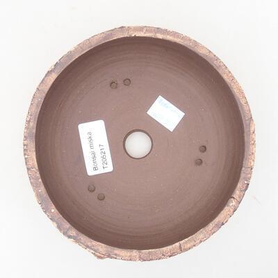 Ceramic bonsai bowl 14.5 x 14.5 x 5 cm, color cracked - 3