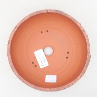 Ceramic bonsai bowl 15 x 15 x 5.5 cm, color cracked - 3