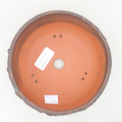Ceramic bonsai bowl 15.5 x 15.5 x 6 cm, cracked color - 3