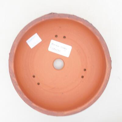Ceramic bonsai bowl 15 x 15 x 4.5 cm, color cracked - 3