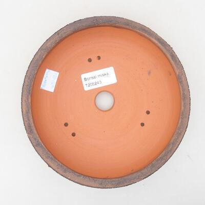 Ceramic bonsai bowl 16.5 x 16.5 x 4.5 cm, cracked color - 3