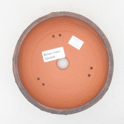 Ceramic bonsai bowl 15 x 15 x 5 cm, color cracked - 3