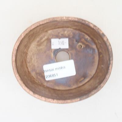 Ceramic bonsai bowl 10.5 x 9 x 4.5 cm, color pink - 3