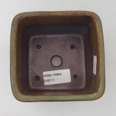 Ceramic bonsai bowl 12 x 11 x 3 cm, color blue - 3