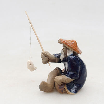 Ceramic figurine - Fisherman F22 - 3