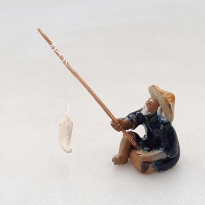 Ceramic figurine - Fisherman F4 - 3