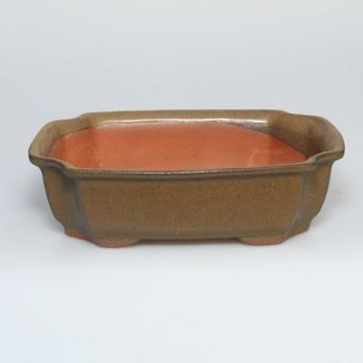 Bonsai bowl + saucer H17 - bowl 14.5 x 10.5 x 4.5 cm, saucer 14.5 x 10 x 1 cm - 3