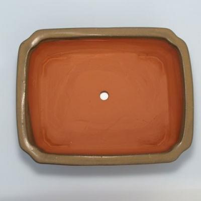 Ceramic bonsai bowl H 20 - 26,5 x 21 x 7,5 cm - 3
