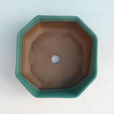 Ceramic bonsai bowl H 13 - 11,5 x 11,5 x 4,5 cm - 3