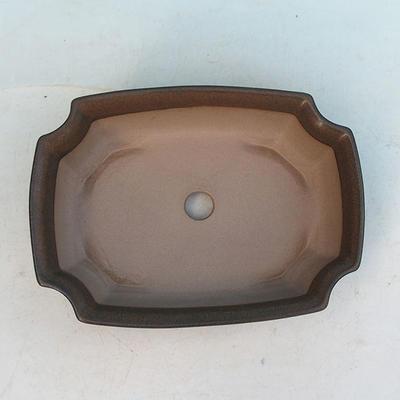 Bonsai ceramic bowl H 03, Brown - 3