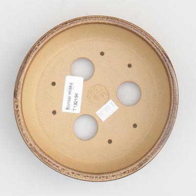 Ceramic bonsai bowl 15,5 x 15,5 x 4,5 cm, color brown - 4