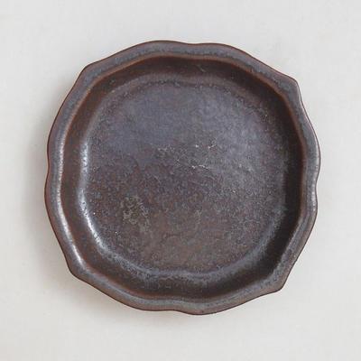 Bonsai bowl + tray H95 - bowl 7 x 7 x 4,5 cm, tray 7 x 7 x 1 cm - 4
