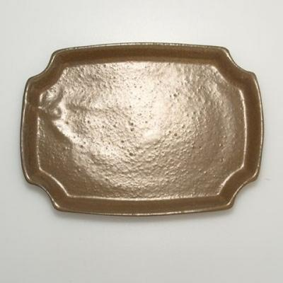 Bonsai bowl + saucer H17 - bowl 14.5 x 10.5 x 4.5 cm, saucer 14.5 x 10 x 1 cm - 4